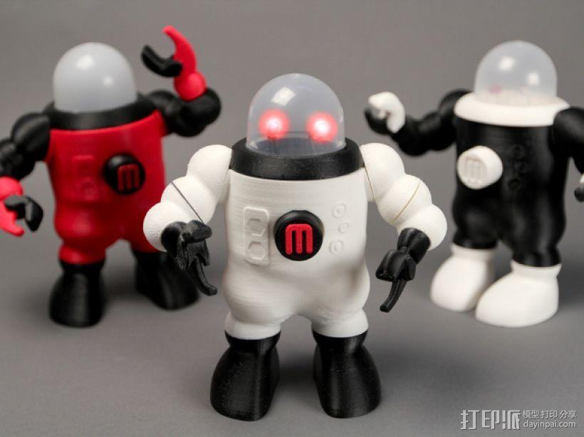 小屋机器人 3D打印模型渲染图