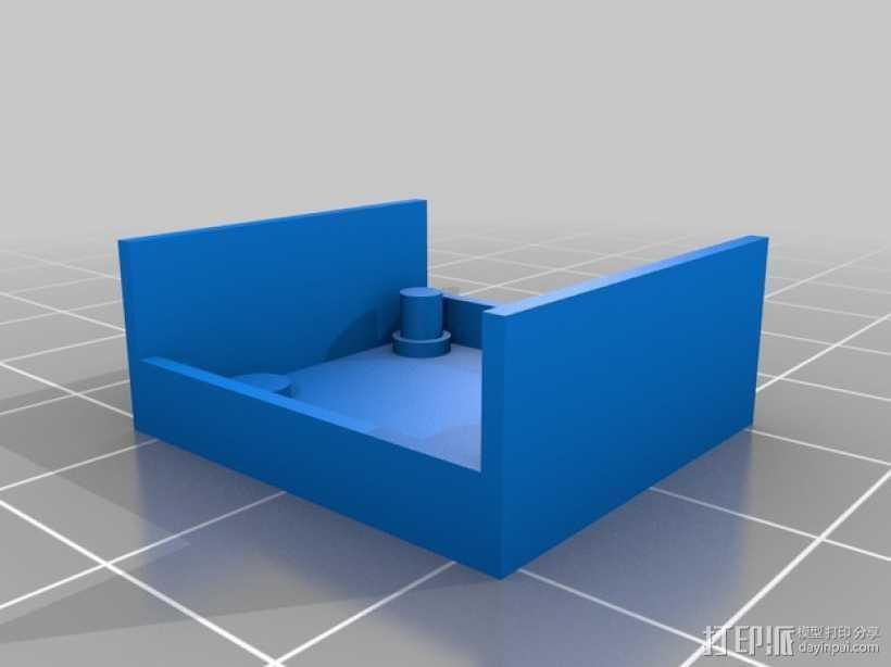 超声波声纳模块 3D打印模型渲染图