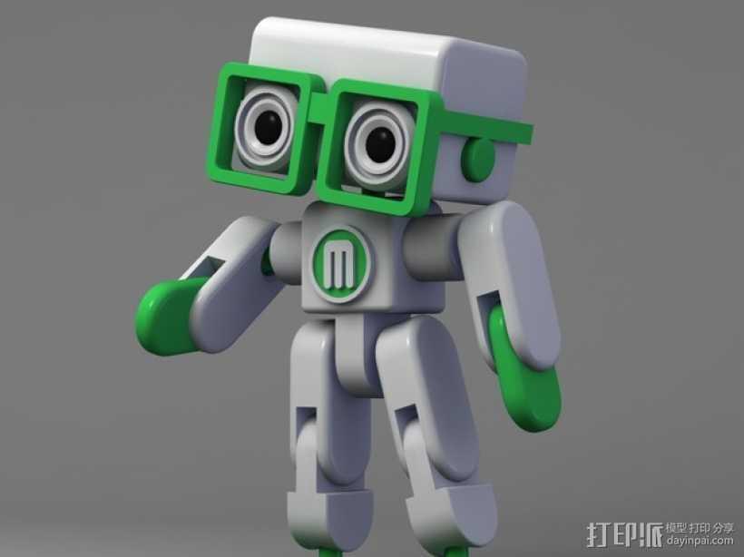 卡通机器人 3D打印模型渲染图