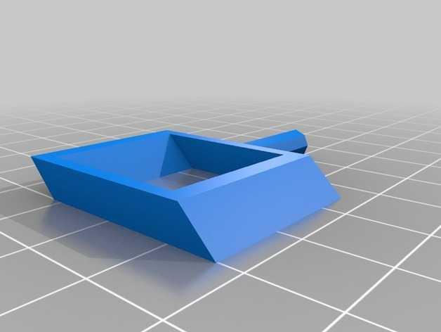 旋转搅拌叶片 3D打印模型渲染图