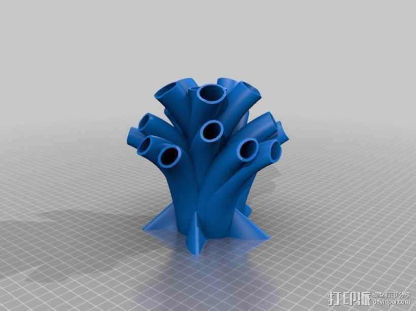 笔筒 家居摆件 3D打印模型渲染图