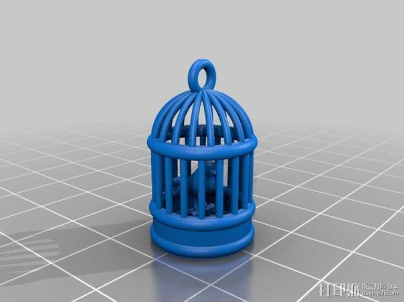 鸟笼 3D打印模型渲染图
