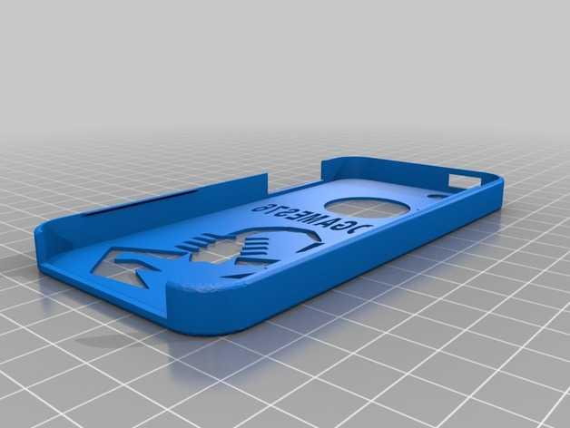 iphone 5 手机后盖 蝎子 图案 3D打印模型渲染图