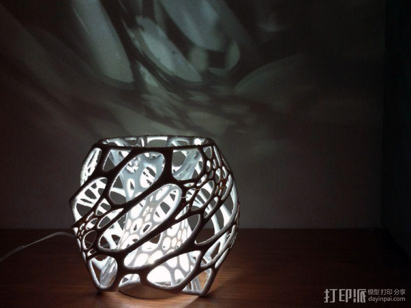 鸟巢灯罩 3D打印模型渲染图