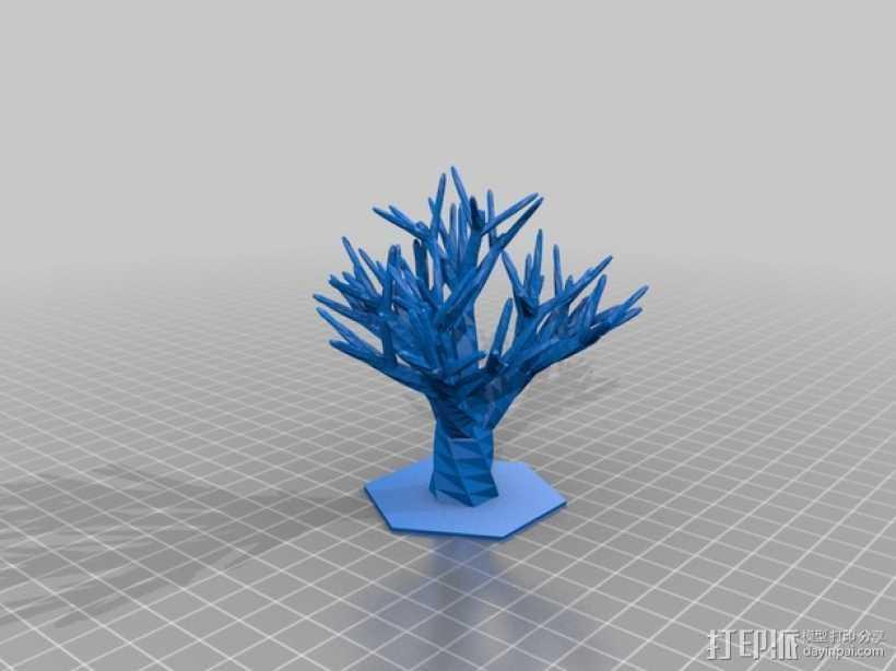 装饰树 3D打印模型渲染图
