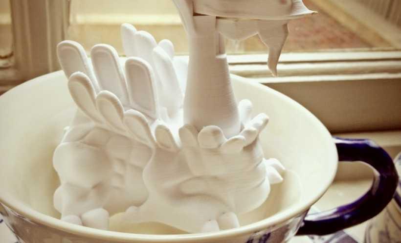 白色的龙 3D打印实物照片