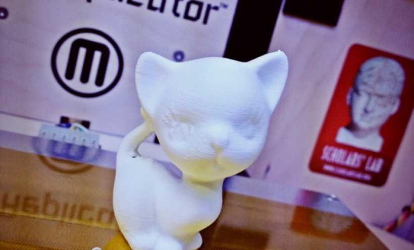 白色的猫咪 3D打印实物照片