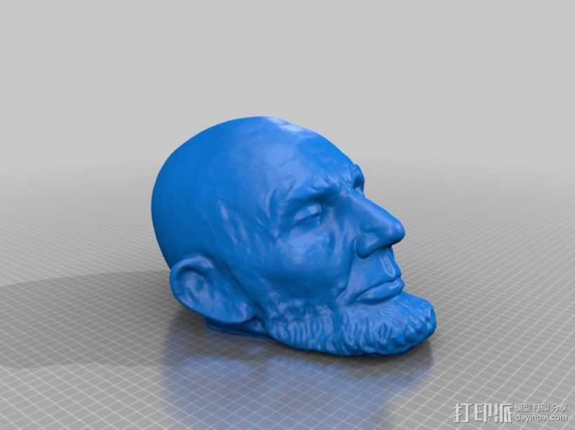 林肯雕像 3D打印模型渲染图