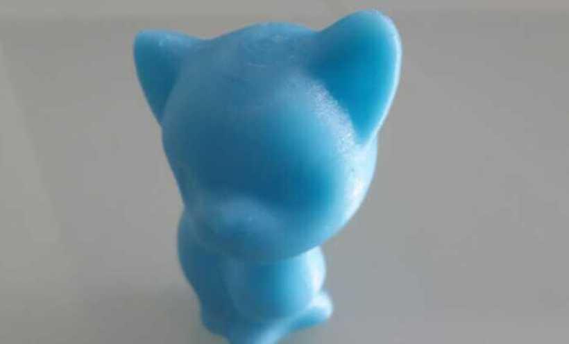 孤独的小猫 3D打印实物照片