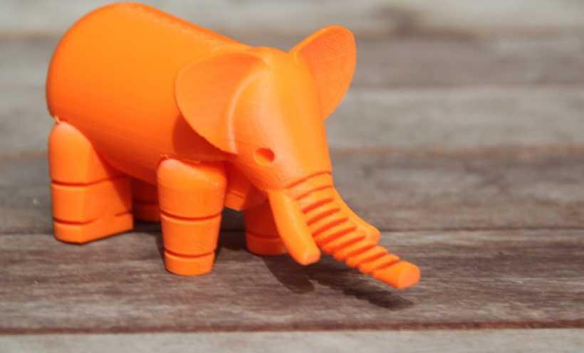 大象 3D打印实物照片