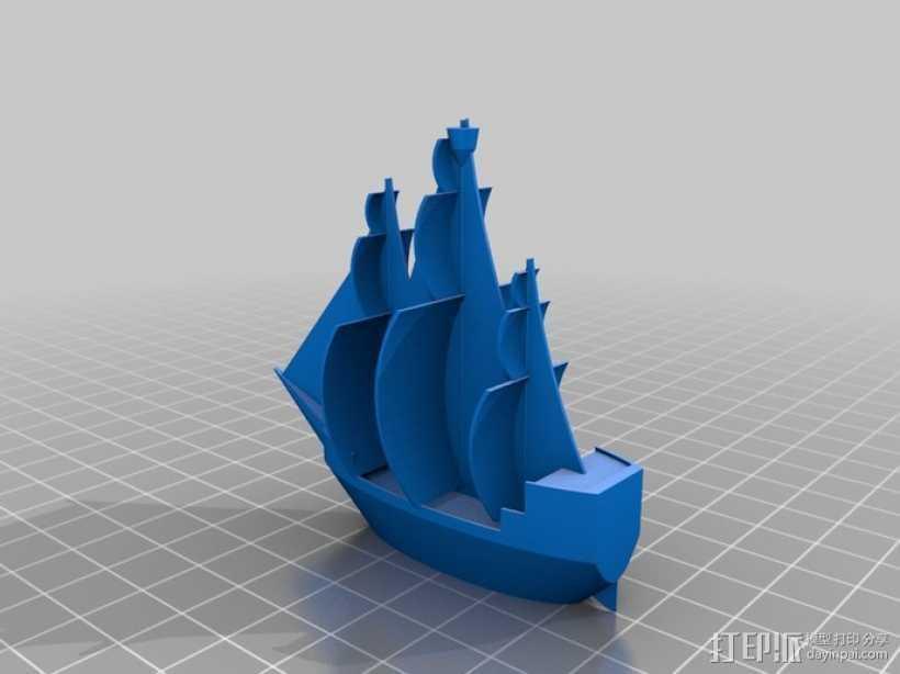 海盗船 3D打印模型渲染图