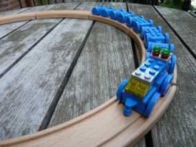 乐高玩具火车 车厢导轨全套