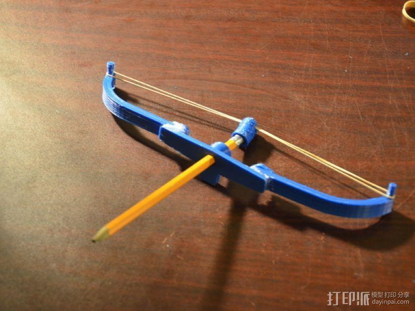 橡胶带的弓和箭 3D打印模型渲染图