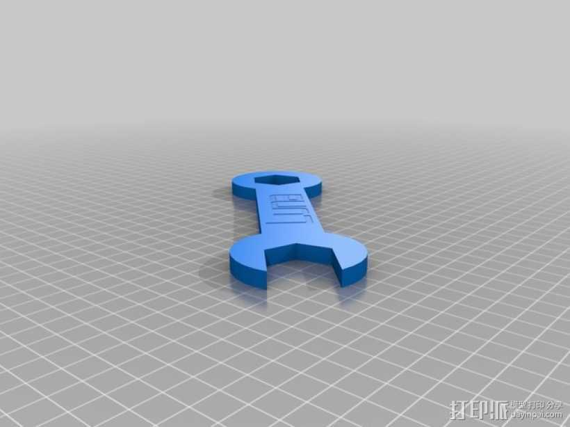 迷你版 扳手 3D打印模型渲染图