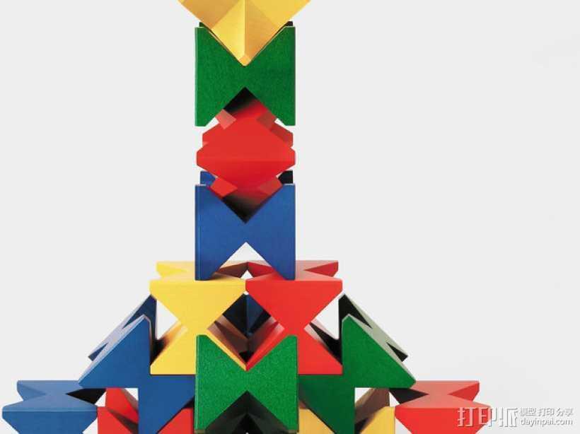 玩堆积木 3D打印模型渲染图