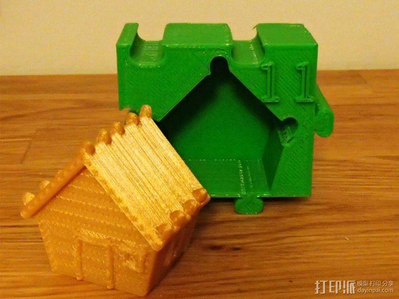 姜饼屋 3D打印模型渲染图