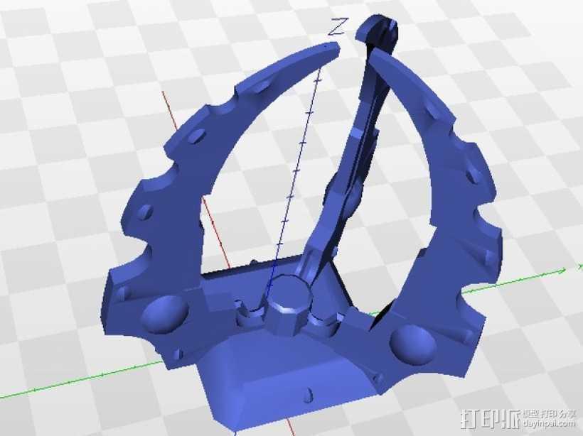 游戏《黎明战争》中的发电器 3D打印模型渲染图