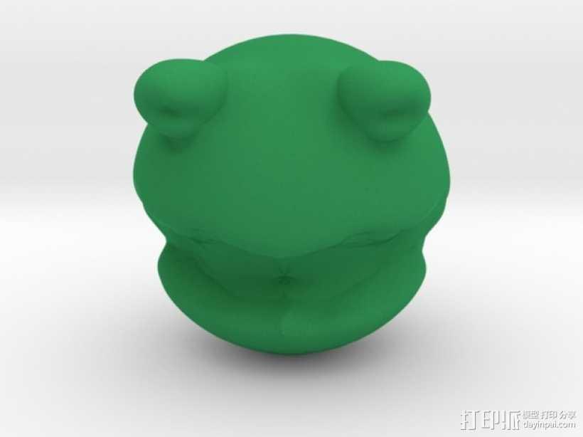 青蛙造型的玩具 3D打印模型渲染图