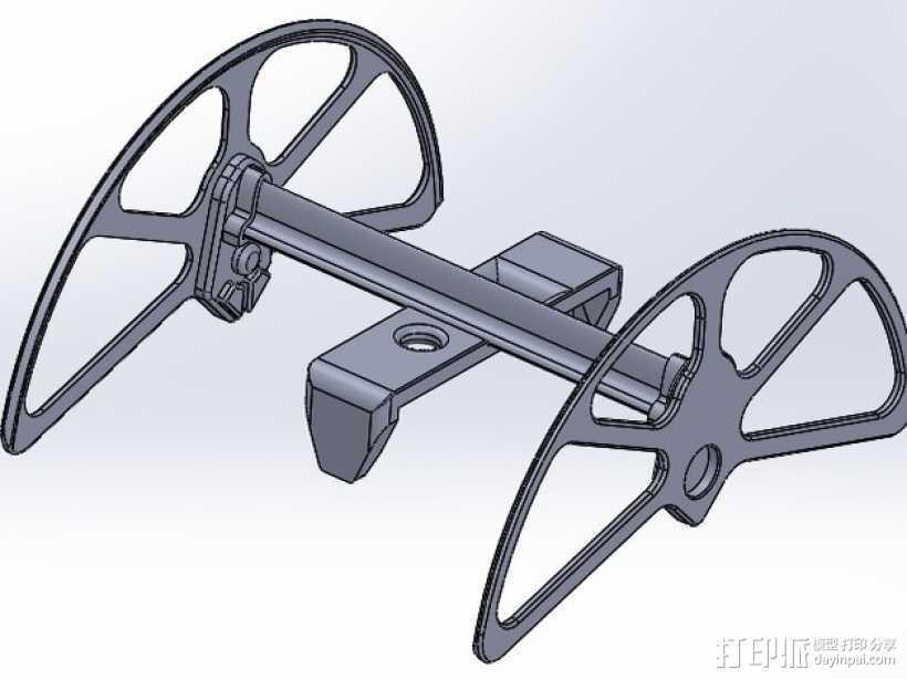 """翻转""""雪橇""""模型 3D打印模型渲染图"""