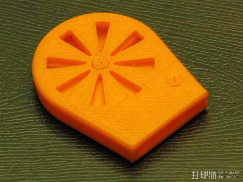 橙色口哨模型 3D打印模型渲染图