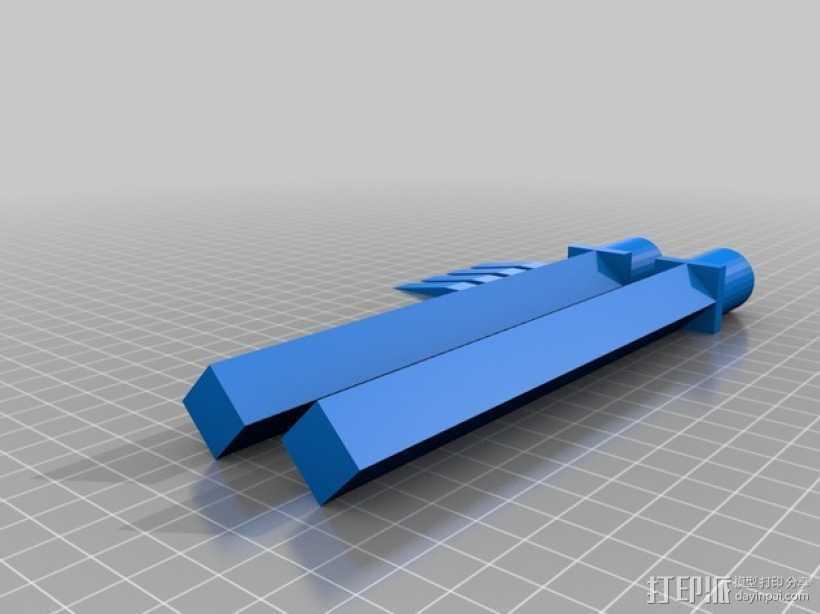 迷你短剑模型 3D打印模型渲染图