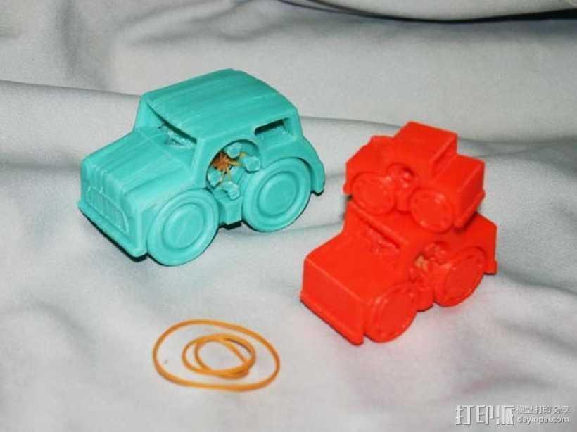 小汽车模型 3D打印模型渲染图