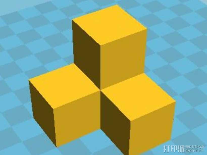 积木模型 3D打印模型渲染图