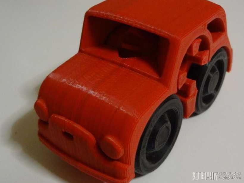 双色小汽车模型 3D打印模型渲染图