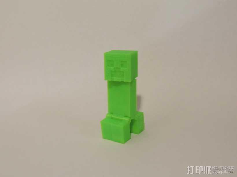 游戏《Minecraft》中爬行者模型 3D打印模型渲染图
