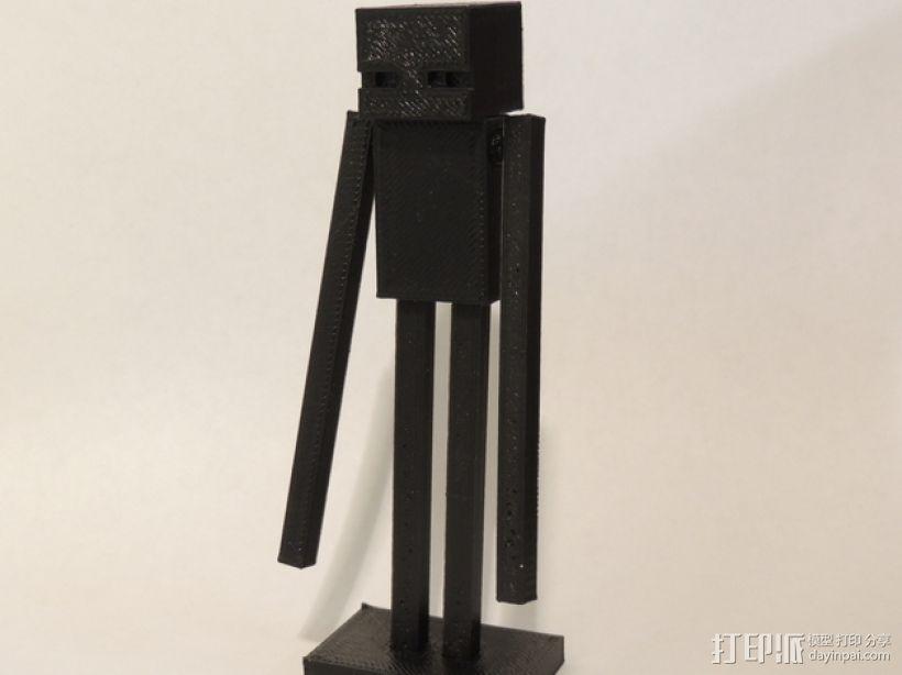 游戏《Minecraf》中的末影人模型 3D打印模型渲染图