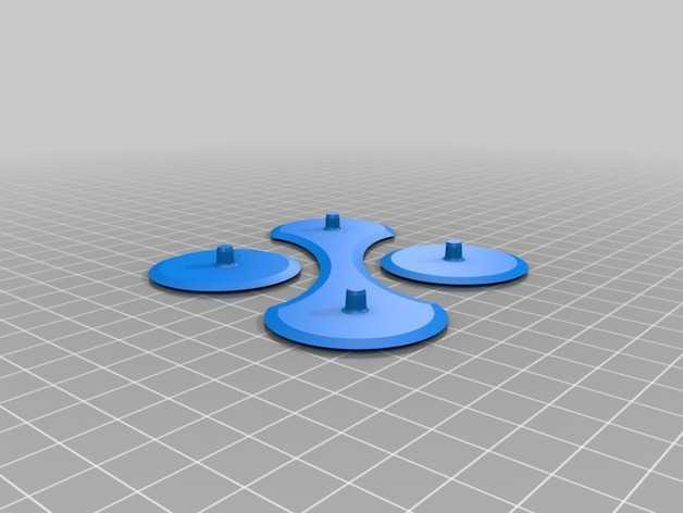 带有挂钩的迷你底盘模型 3D打印模型渲染图