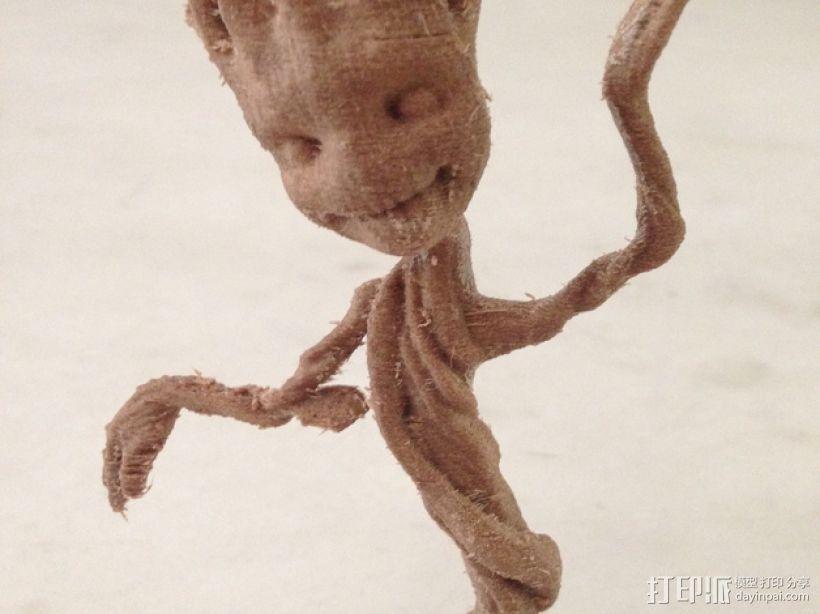 树精格鲁特跳舞模型 3D打印模型渲染图