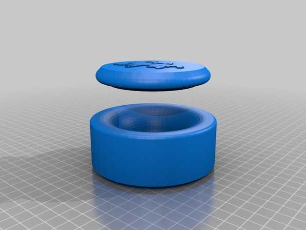 棋牌游戏中使用的收纳盒 3D打印模型渲染图