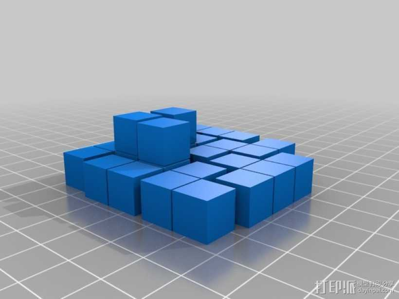 简易soma游戏模型 3D打印模型渲染图