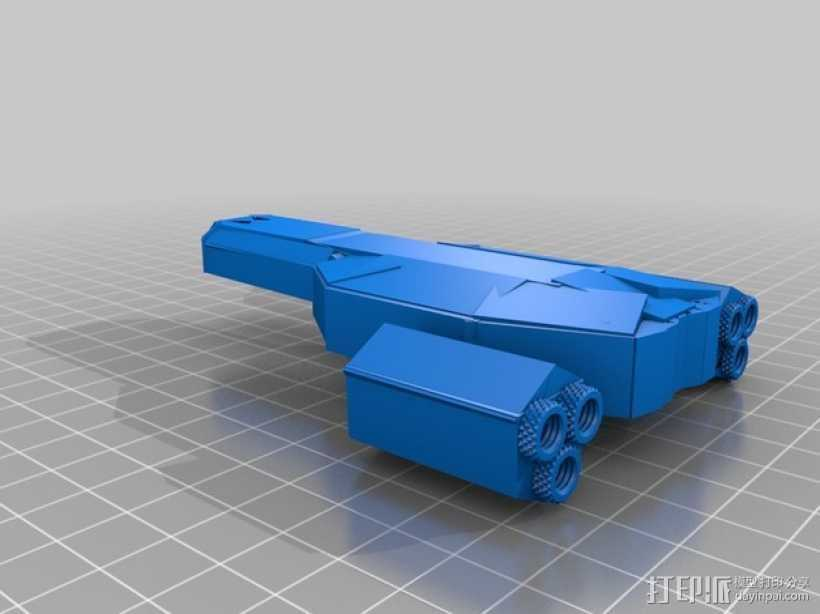 游戏FTL使用的太空飞船 3D打印模型渲染图