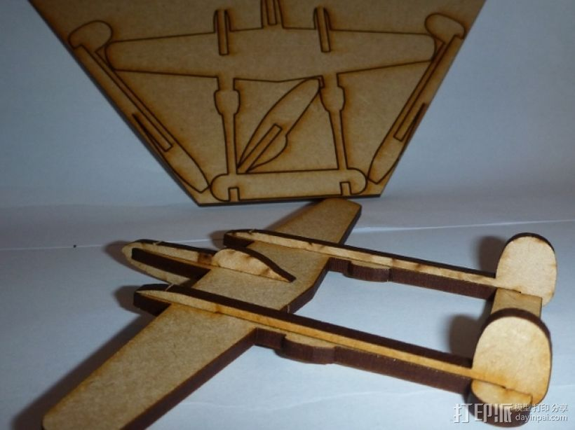 P38闪电战斗机模型 3D打印模型渲染图