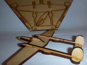 P38闪电战斗机模型