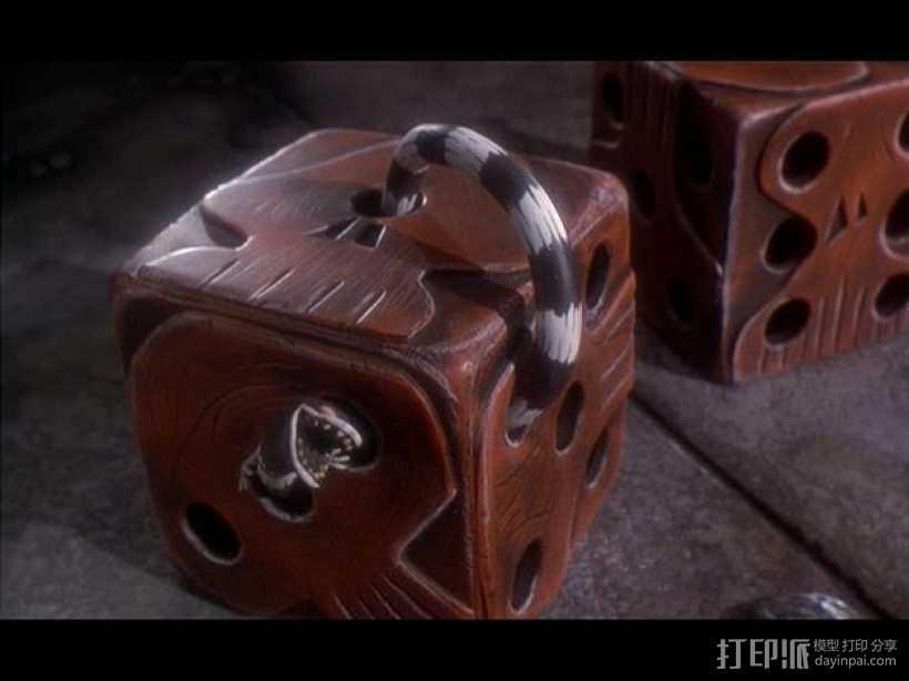 乌基布基头像的骰子 3D打印模型渲染图