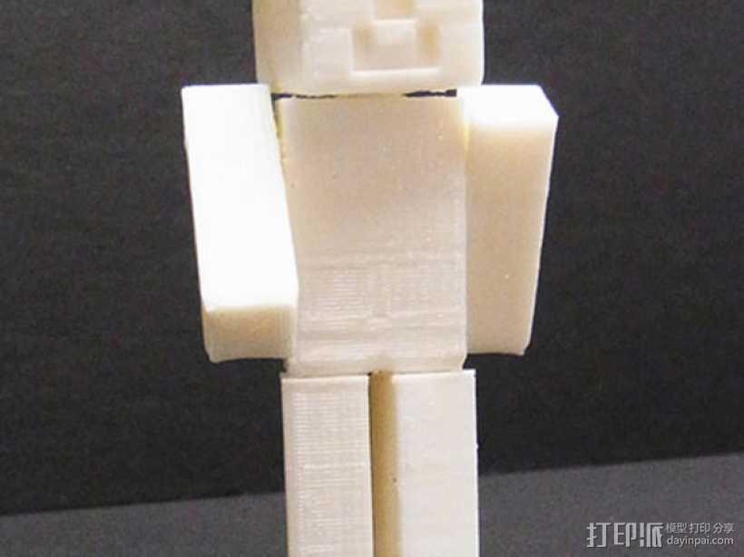 游戏《Minecraft》中人物模型 3D打印模型渲染图