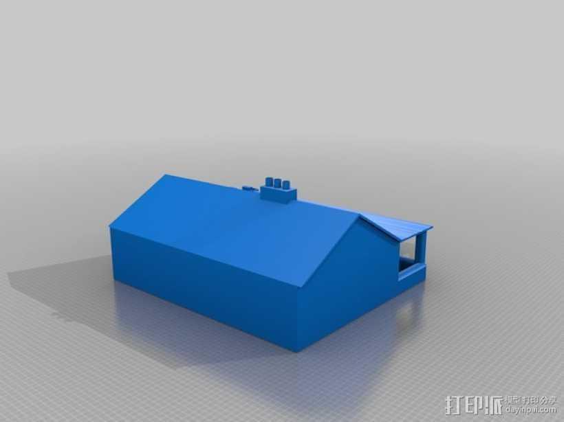 游戏《fallout》废弃农舍模型 3D打印模型渲染图