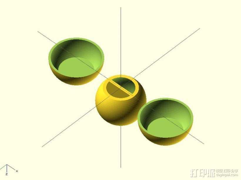 可定制的外心球模型 3D打印模型渲染图