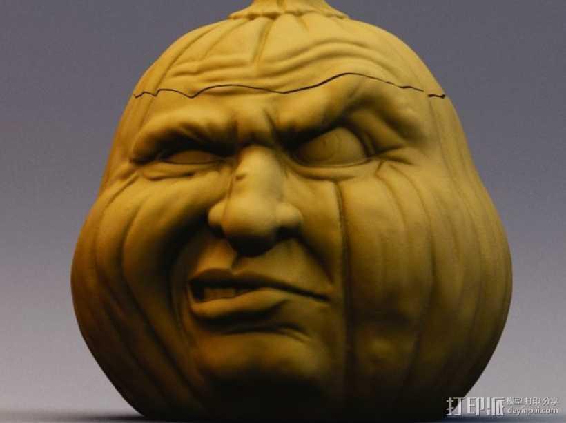 Grumpkin糖果罐 3D打印模型渲染图