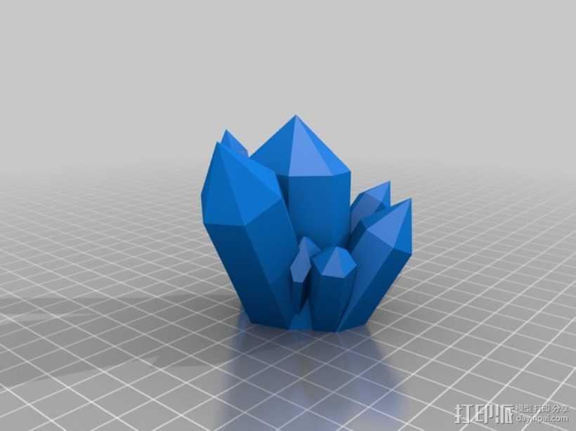 迷你水晶模型 3D打印模型渲染图