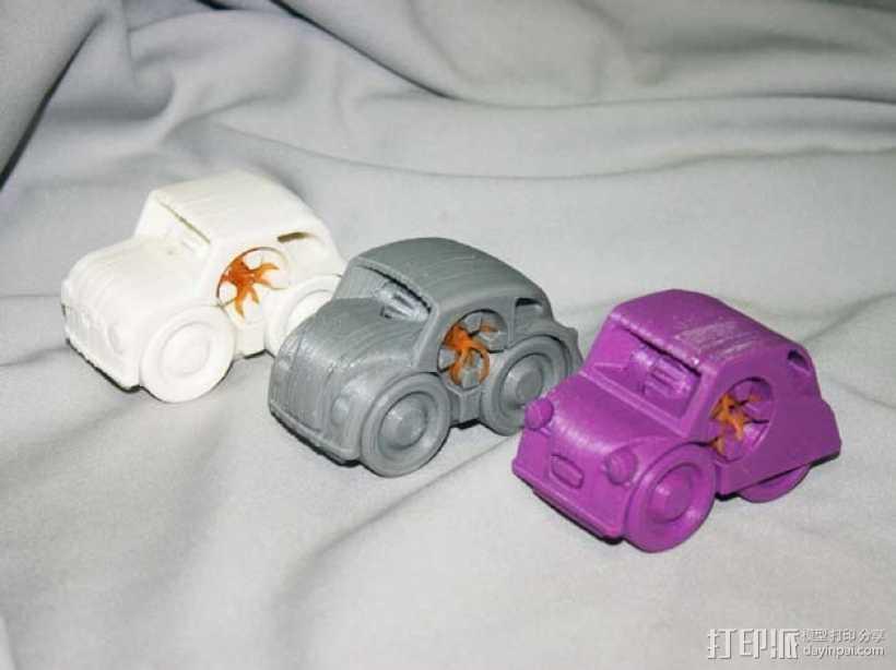迷你小汽车模型 3D打印模型渲染图