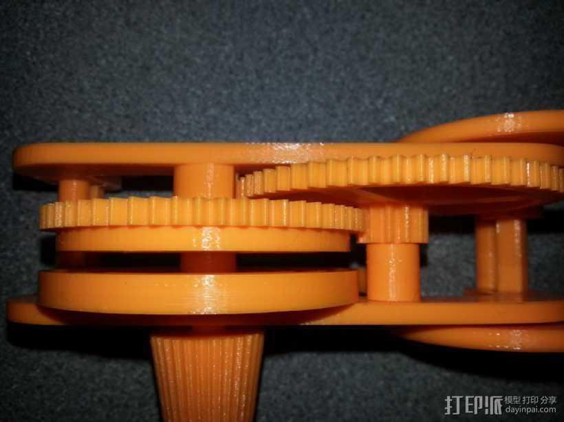 齿轮和底盘组装模型 3D打印模型渲染图