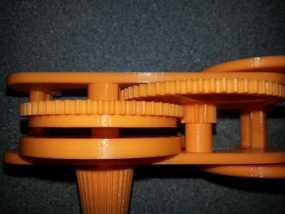 齿轮和底盘组装模型