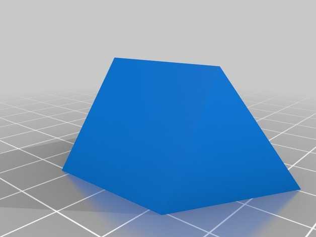 迷你金字塔模型 3D打印模型渲染图