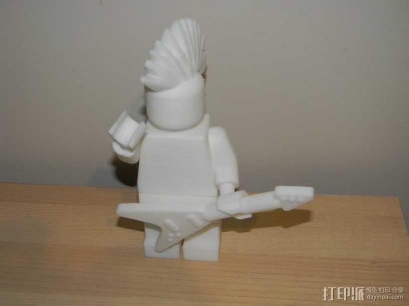 带有朋克摇滚风的乐高玩偶 3D打印模型渲染图