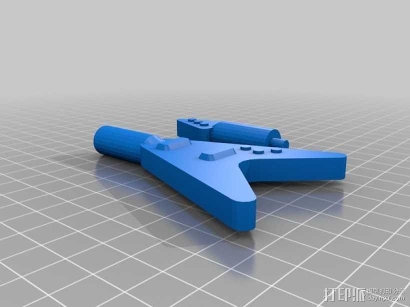 乐高玩偶中的吉他模型 3D打印模型渲染图