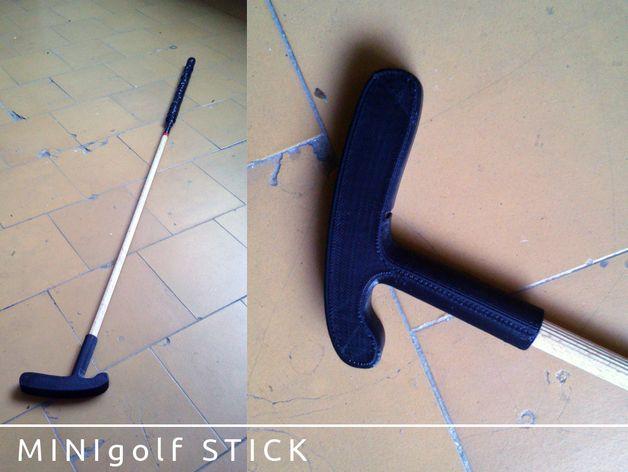 迷你高尔夫球推杆 3D打印模型渲染图